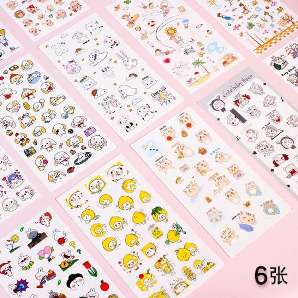 Mua Sét 6 Tấm Sticker Cute