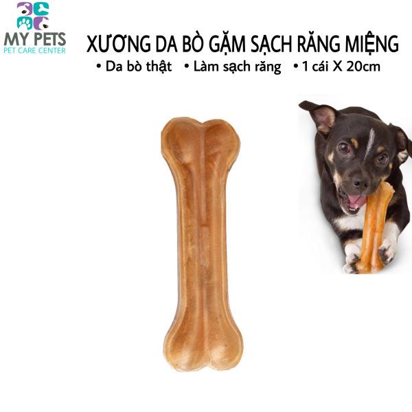 Xương da bò cao cấp dành cho chó gặm sạch răng, khử mùi hôi miệng - 1 chiếc 20cm