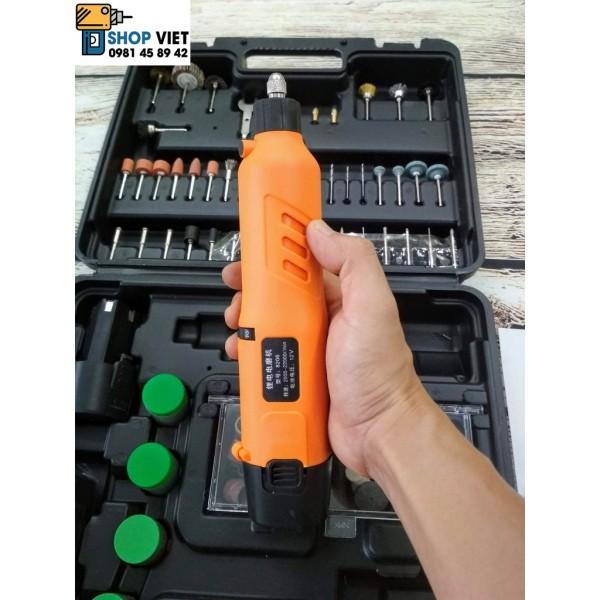 SV Bộ máy mài khuôn mini 12V 2 pin sạc kèm phụ kiện đầy đủ