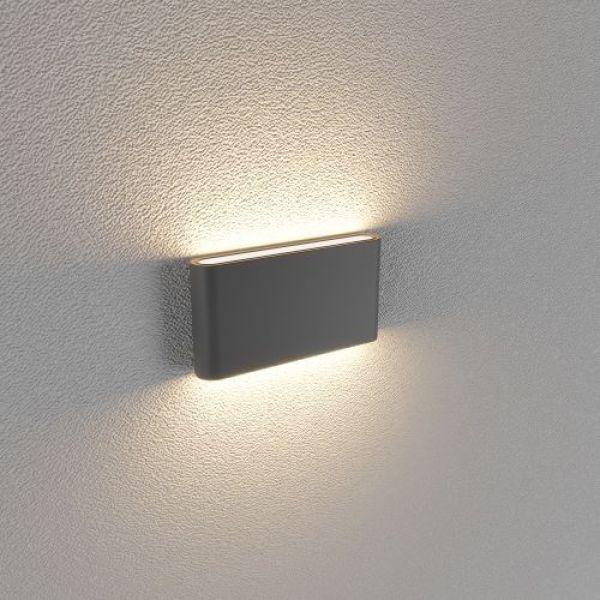 Đèn hắt tường 2 đầu kiểu dáng hiện đại thân nhôm siêu sáng - chống nước 12w