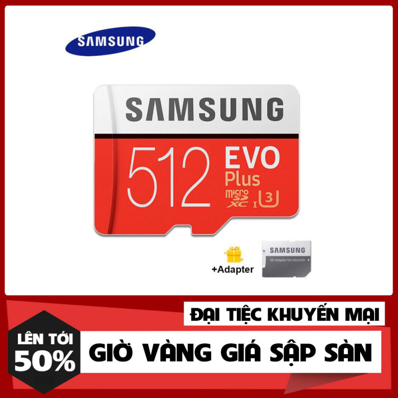 [Shop Mới Xả Kho] Thẻ nhớ MicroSDXC Samsung Evo Plus 512GB U3 4K R100MB/s W60MB/s - Box Anh New Kèm Adapter New 2021