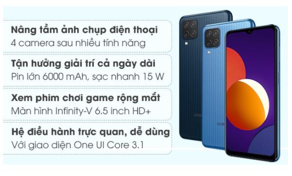 Điện thoại Samsung Galaxy M12 4G/64G chính hãng bảo hành 12T