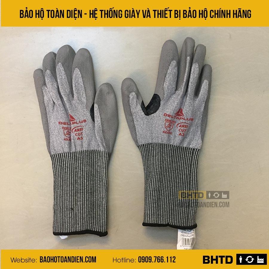 Găng tay chống cắp cấp 4 chịu nhiệt 150 độ C Deltaplus Venicut42