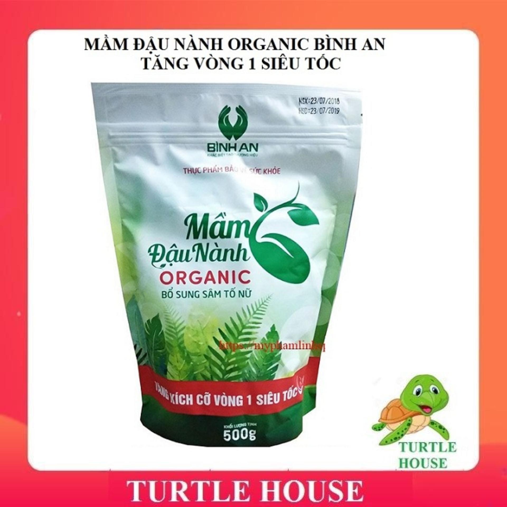 Mầm đậu nành Organic Bình An được bổ sung Sâm tố nữ giúp tăng vòng 1 tự nhiên ( gói 500gr)