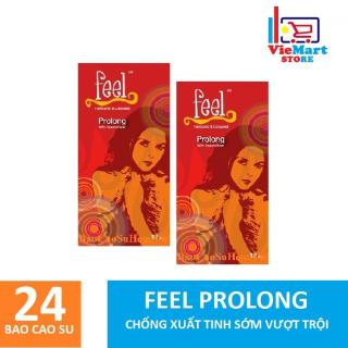 Bộ 2 Hộp Bao cao su Feel Prolong 12s - Hãng phân phối chính thức thumbnail
