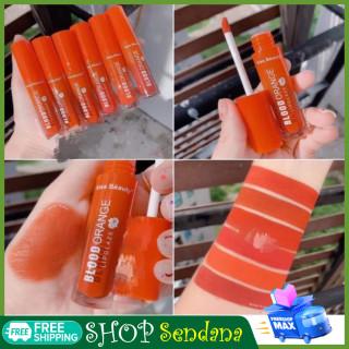 Son kem blood orange thái lan, son kem kiss beauty tách lẻ, son thiết kế siêu đẹp, chất son mỏng nhẹ được nhiều bạn trẻ yêu thích thumbnail