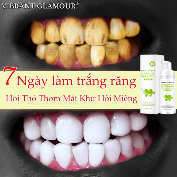 [Hàng chính hãng] Mousse Tinh Chất Tẩy Trắng Răng Sịt Thơm Miệng Khử Mùi Hôi Miệng Bọt Làm Sạch Răng Kem Đánh Răng Vibrant Glamour Whitening Teeth Oral Treatment giá rẻ