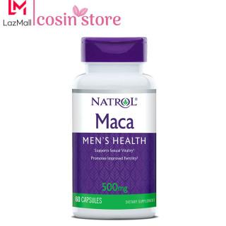 Viên Uống Natrol Maca Men s Health 500mg 60 viên tăng cường sức khỏe nam giới - Natrol Maca 500 mg của Mỹ thumbnail