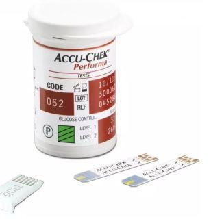 Hộp 25 Que thử đường huyết Accu-chek Performa cho máy Accu-chek Performa của hãng Roche Đức, Date xa, đủ tem nhãn phụ thumbnail