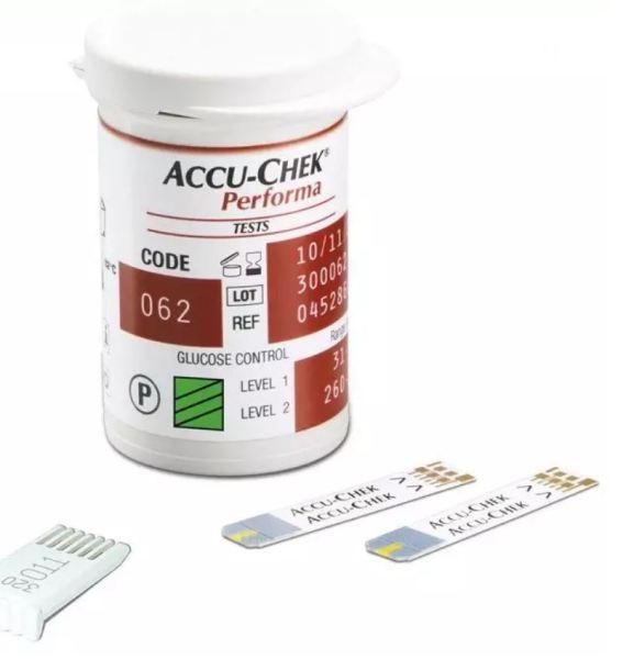 Nơi bán 💖 Hộp 25 Que thử đường huyết Accu-chek Performa cho máy Accu-chek Performa của hãng Roche/Đức, Date xa, đủ tem nhãn phụ