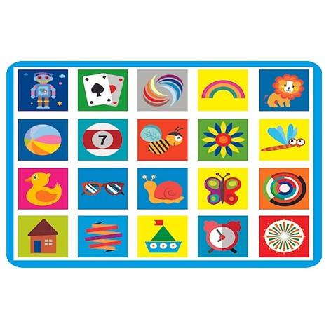 Flash Card - Thẻ Kích Thích Thị Giác Cho Trẻ Sơ Sinh, Flashcard Phát Triển Trí Tuệ Trẻ Em, Chất Liệu 60 Thẻ Bìa Mềm Tập 4 - Màu Sắc Giảm Giá Khủng