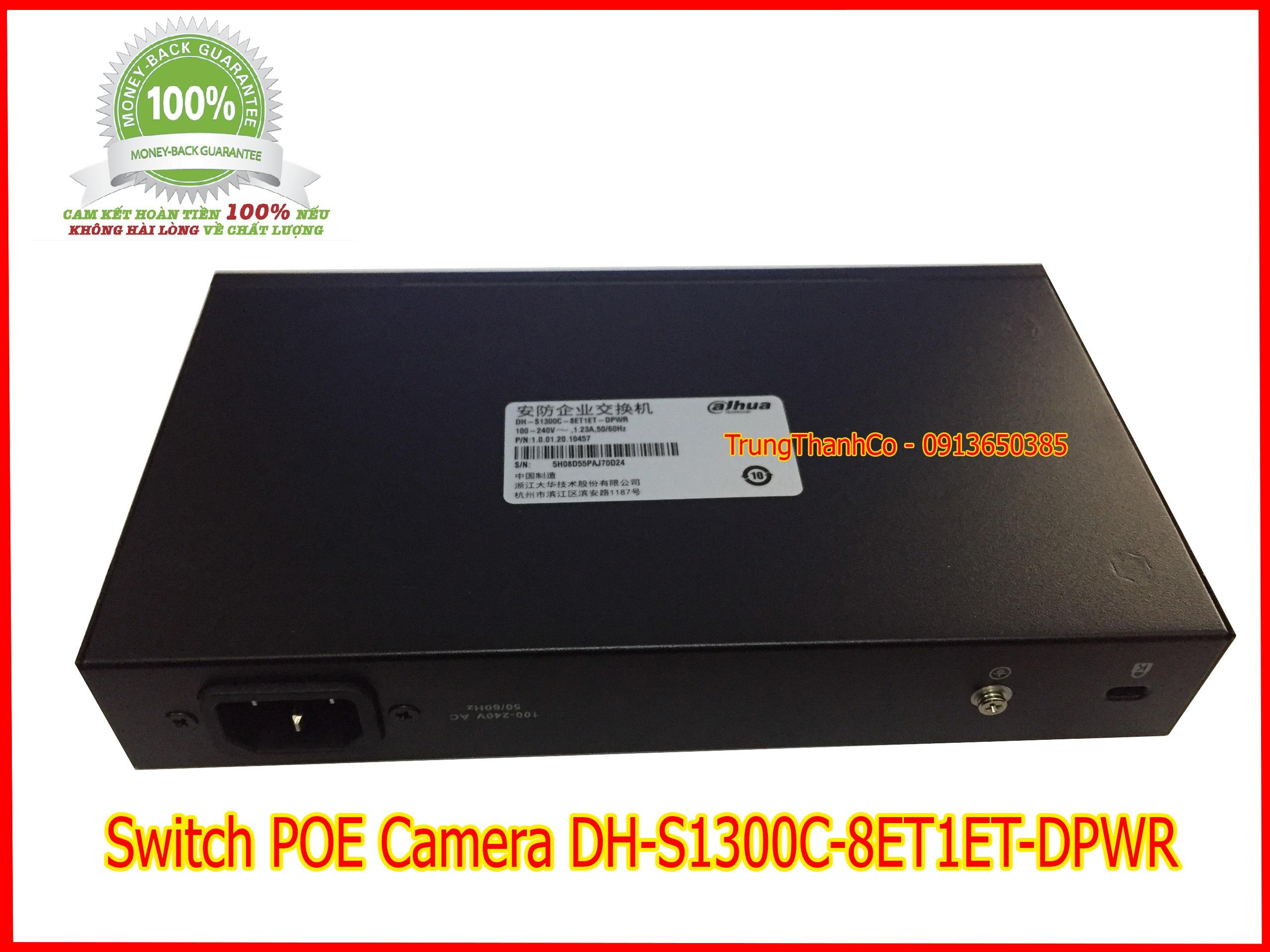 Giá Switch POE camera 8+1 DH-S1300C-8ET1ET-DPWR