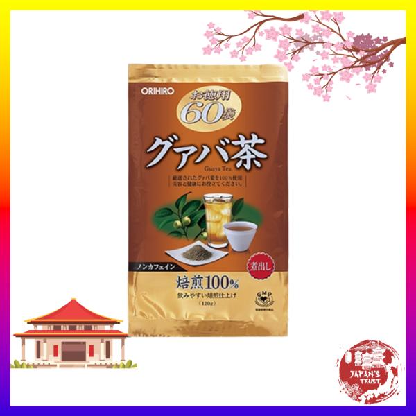 [Orihiro] Trà ổi hỗ trợ giảm cân Orihiro 60 gói - Giảm cân an toàn - Giá tốt - Hàng chính hãng