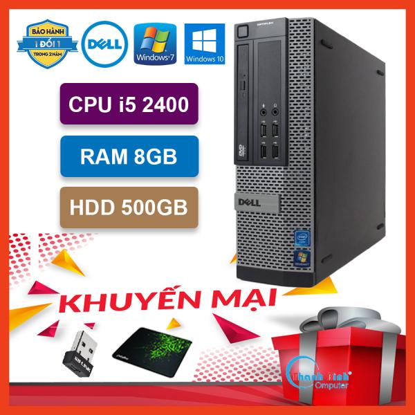 Máy Tính Để Bàn Đồng Bộ Dell Optiplex (Core i5 2400 / 8G / 500G) - Máy Tính Văn Phòng - Bảo Hành 24 Tháng - Tặng USB Wifi Và Bàn Di.
