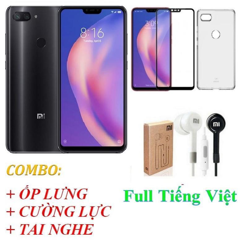 Xiaomi Mi 8 Lite 64GB Ram 6GB Full Tiếng Việt - DigiPhone + Ốp lưng + Cường lực + Tai nghe - Hàng nhập khẩu
