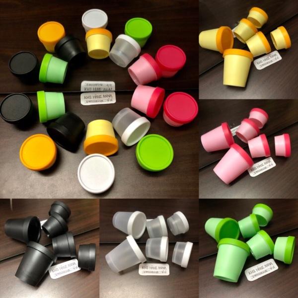 [ Hủ Ly Chiết mỹ phẩm ]  50 hủ Ly nhựa 200gr / 100gr / 50gr - Hủ ly đủ màu sắc : hủ ly Đen, trắng trong , hồng , xanh lá , vàng -  Combo 50 Hủ ly nhựa đựng kem , chiết mỹ phẩm
