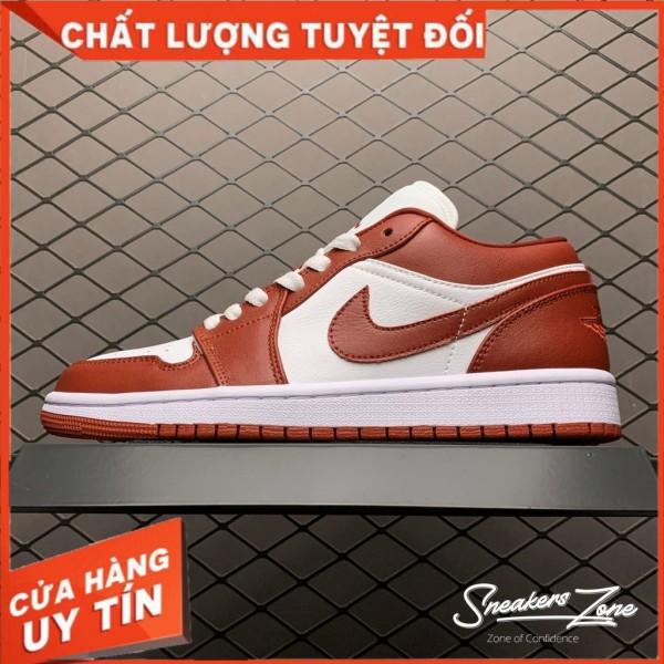 (FREESHIP+HỘP+QUÀ) Giày Thể Thao AIR JORDAN 1 Low Gym Red White Màu đỏ Trắng Thấp Cổ Cực Phong Cách