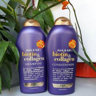 Dầu Gội Xả Biotin Collagen Chống Rụng Tóc Và Kích Thích Mọc Tóc 577ml(Một Cặp) thumbnail