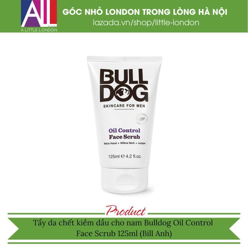 Tẩy da chết kiềm dầu cho nam Bulldog Oil Control Face Scrub 125ml (Bill Anh)