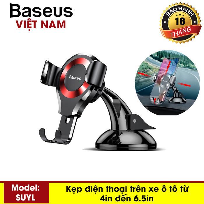 Kẹp điện thoại - Giá đỡ điện thoại trên ô tô, xe hơi gắn taplo Baseus SUYL-XP01 sang trọng hiện đại mầu đỏ - Phân phối bởi Baseus Vietnam