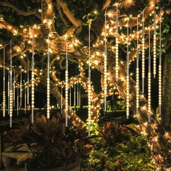 Ngoài Trời Mưa Sao Băng Đèn 30CM/45CM X 8 Ống Chuồn Nước Sân Vườn Ngày Lễ cho Tiệc Cưới
