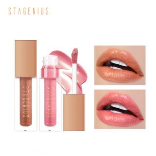 Son môi STAGENIUS màu nhũ bóng có dưỡng ẩm giúp đôi môi căng mịn, bền màu lâu trôi - INTL thumbnail
