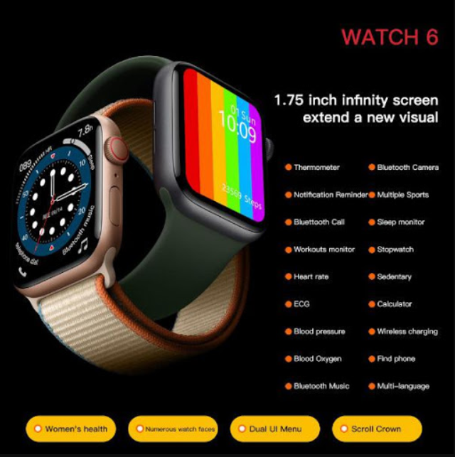 [ ĐỒNG HỒ NHẬP QUỐC TẾ ] Đồng Hồ Cao Cấp Thông Minh Smart Watch Seri 6 (HW16) Tiếng Việt 100%,Full Màn Hình Cảm Ứng Siêu Mượt,Đo Nhiệt Độ Cơ Thể,Nhịp Tim, Huyết Áp, Thay Hình Nền Tùy Ý,Nghe Gọi Trực Tiếp. BH 12 Tháng.