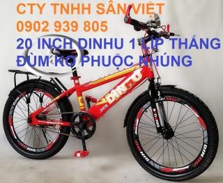 Xe đạp 20 inch DINHU thắng đùm xe đạp bé trai cho học sinh cấp 1 thumbnail
