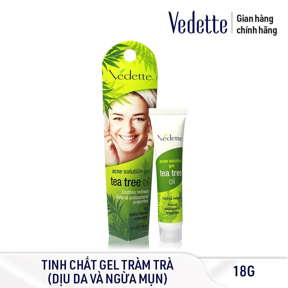 Gel kháng khuẩn trị mụn tinh chất tràm trà Vedette 18g tốt nhất