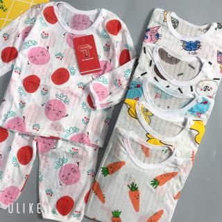 Thảo nguyên Kids Bộ dài tay cotton giấy khuy vai cho bé yêu 6-15kg thumbnail