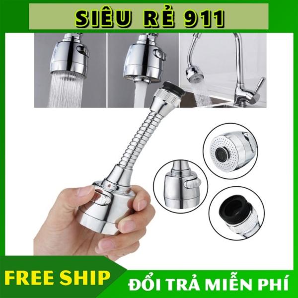 Bảng giá Đầu vòi rửa chén bát tăng áp, điều hướng xoay 360 độ tặng kèm đầu nối