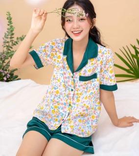 Đồ bộ nữ mặc nhà Pijama hoa nhí VIBES Liti Py Set thumbnail