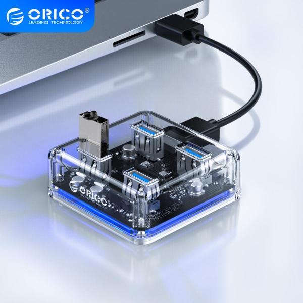 Bảng giá Bộ chia USB Hub chia 4 cổng USB 3.0 Orico MH4U trong suốt - Bảo hành 12 tháng Phong Vũ