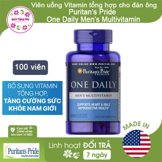 Viên uống Vitamin tổng hợp cho đàn ông Puritan s Pride One Daily Men s Multivitamin 100 viên thumbnail