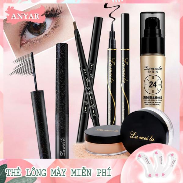 ANYAR-Bộ mỹ phẩm 5 món cho người mới bắt đầu [kem BB + phấn phủ + mascara + kẻ mắt + chì kẻ mày] giá rẻ