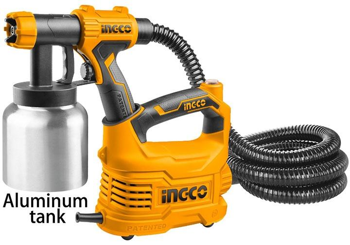 Máy phun sơn bình nhôm 500W INGCO SPG5008-2