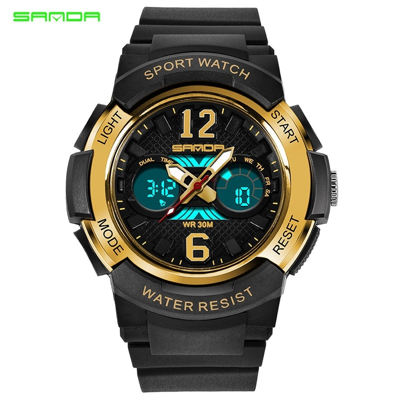 Brand Watch new childrens watches outdoor sports children boys and girls LED digital waterproof childrens sports watch 757 - intl bán chạy