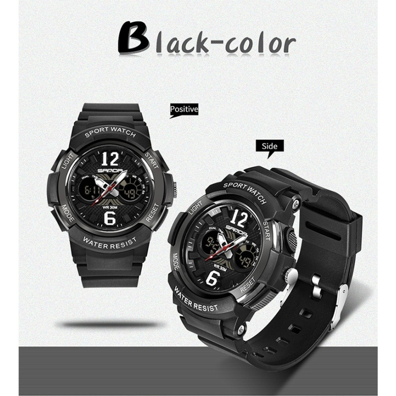 Casual Fashion Quartz Watches Mens Sports Digital Watch Kids Girl Shock Resistant Waterproof Clock Women Relogio Masculino - intl bán chạy