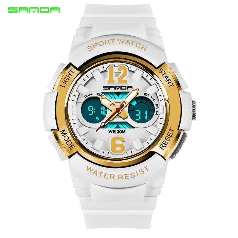 Children Digital Wristwatch Sport Electronic Watches Cartoon Alarm Clock LED Waterproof Stopwatch Relogio infantil saat - intl bán chạy