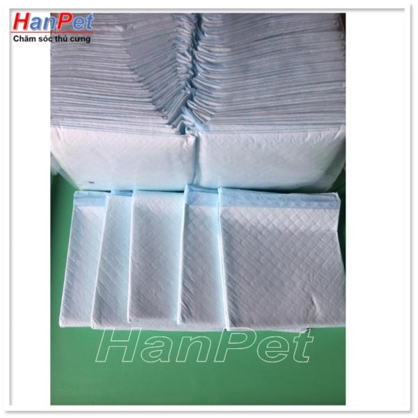 HN-Bán Lẻ 10 miếng tã lót khay vệ sinh, lót chuồng chó, lót sàn xe - tã giấy size to 45x60cm (hanpet 393c)