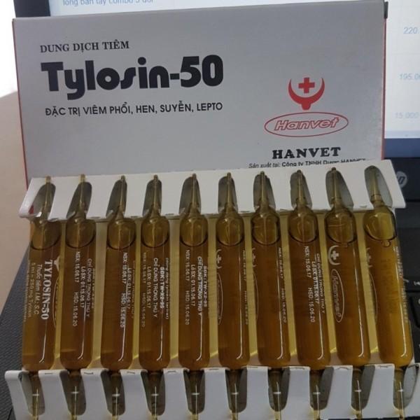 10 tuýp thuốc hen tylosin-50 5ml (đặc trị hen khẹc,khò khè)