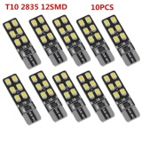Giá Bán 10Pcs Set T10 Dc 12V Car Led Light For Interior Lights 168 194 W5W Wedge 12Smd 2835 Mới Rẻ