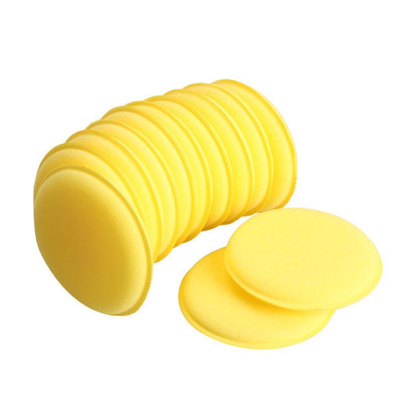 12pcs Polish Wax Foam Sponges Applicator Pads for Clean Car Vehicle Glass (Yellow)