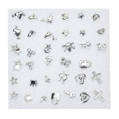 18 đôi Sang Trọng Fabulous Nhựa Tai (Bạc)-quốc tế