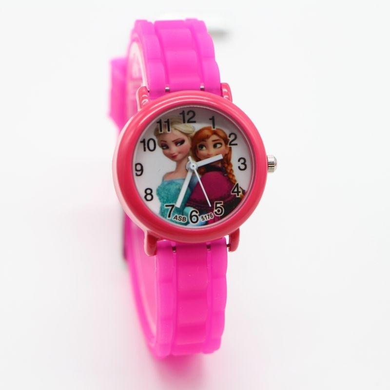 1 cái thời trang 3D Hoạt Hình Đồng Hồ trẻ em Trẻ Em Trẻ Em Bé Trai Elsa và Anna Dây Giày Silicone Đồng Hồ Đeo Tay Thạch Anh Đồng Hồ Relogio Đồng Hồ -quốc tế bán chạy