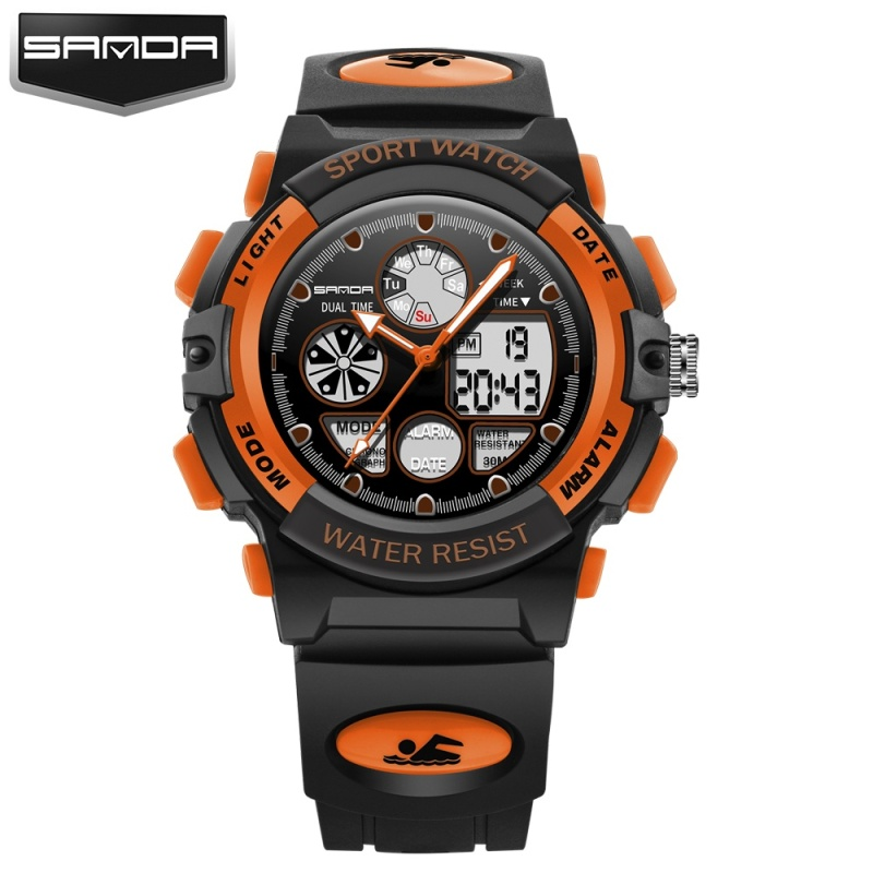 Nơi bán 2017  Brand Fashion Children Sports Watches LED Digital Quartz Military Watch Boy Girl Student Multifunctional Wristwatches - intl