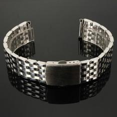 Hình ảnh 22mm Stainless Steel Watch Band Strap Bracelet & Push Button Double Flip Lock - intl