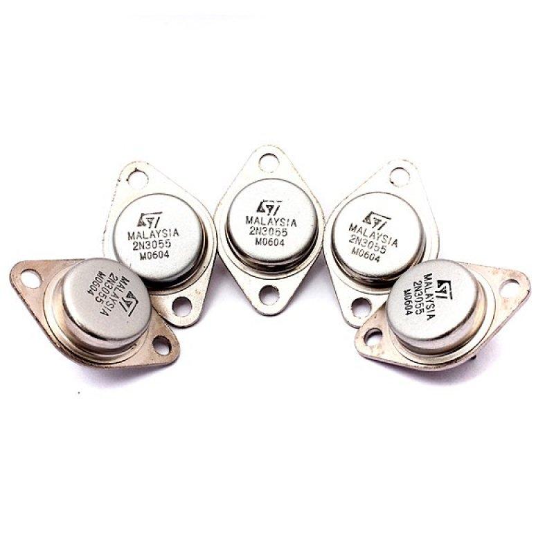 5 cái NPN Bộ Khuếch Đại Công Suất Cao Và Chuyển Mạch Transistor 2N3055 ĐẾN-3 Kim Loại-Quốc Tế