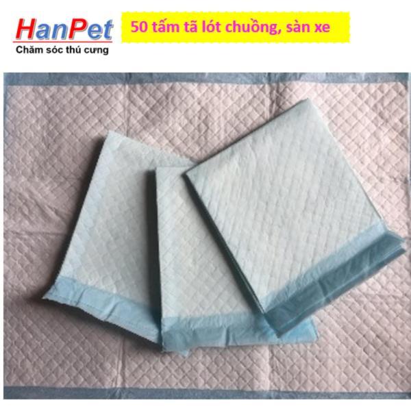 HN-50 miếng tã lót khay vệ sinh nhỏ, lót chuồng chó, lót sàn xe - tã giấy 33x45cm (hanpet 393a)