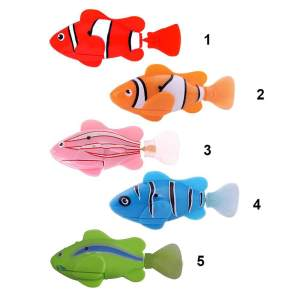 Hình ảnh 5pcs Funny Swim Electronic Robofish Activated Battery Powered Robo Toy fish Robotic Pet for Fishing Tank Decorating Fish - intl